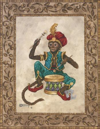 Monkey with Drum by Janet Kruskamp