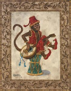 Monkey with Mandolin by Janet Kruskamp