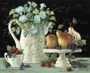 Morning Glories with Fruit by Janet Kruskamp