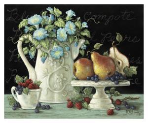 Morning Glories with Fruit by Janet Kruskamp