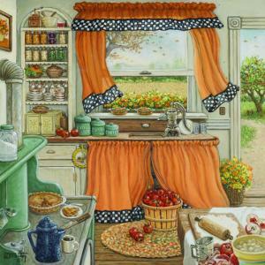 Pie Baking Day by Janet Kruskamp