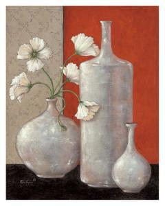 Silverleaf And Poppies II by Janet Kruskamp