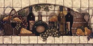 Wine, Fruit, 'N Cheese Pantry by Janet Kruskamp