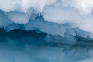 Antarctica. Close-up of an Iceberg with Reflection by Janet Muir