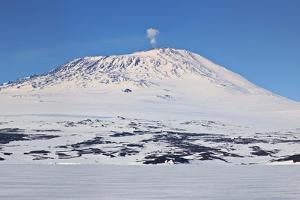 Mount Erebus, Antarctica. Panoramic Composite by Janet Muir
