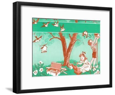 Painting Birdhouses - Jack & Jill