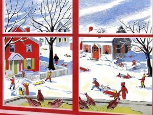 Winter Window - Jack & Jill by Janet Smalley