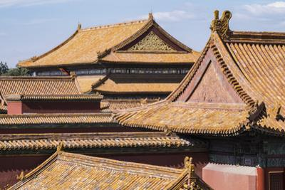 Rooftops, Forbidden City, Beijing, China, Asia