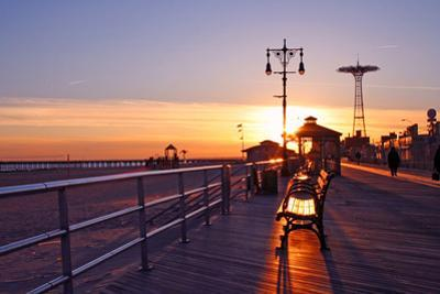 Coney Island Sunset by Janice Barchat