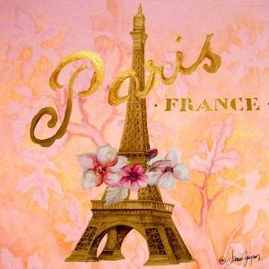 Gold Paris Eiffel by Janice Gaynor