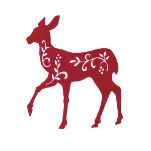 Holiday Deer I by Janice Gaynor