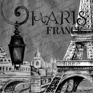 Parisian Wall Black I by Janice Gaynor