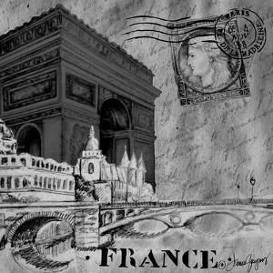 Parisian Wall Black II by Janice Gaynor