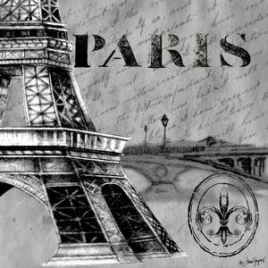 Parisian Wall Black III by Janice Gaynor