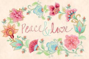 Peace and Love Wreath by Janice Gaynor