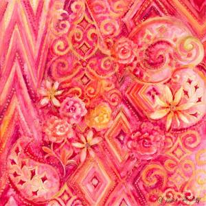 Pink Abstract by Janice Gaynor