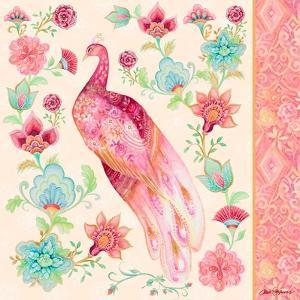 Pink Medallion Peacock II by Janice Gaynor