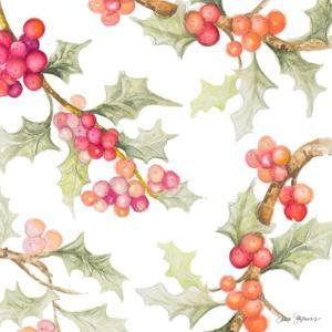 Watercolor Holly I by Janice Gaynor