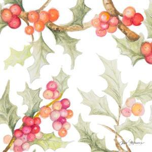 Watercolor Holly II by Janice Gaynor
