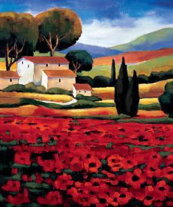 Poppy Field II by Janine Clarke
