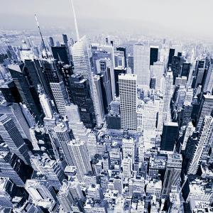 Aerial View of Manhattan-New York by Janis Lacis