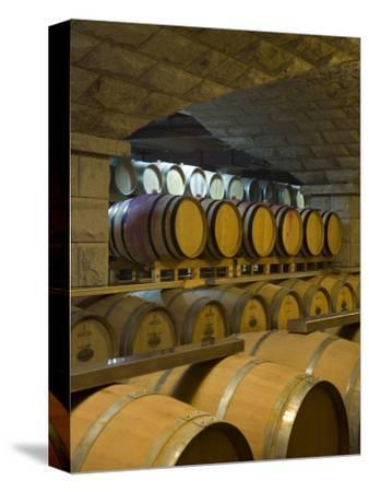 Barrels in Cellar at Chateau Changyu-Castel, Shandong Province, China
