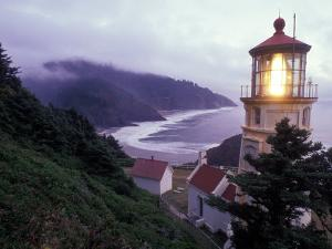 Foggy Day at the Heceta Head Lighthouse, Oregon, USA by Janis Miglavs