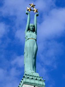 Freedom Statue in Riga, Latvia by Janis Miglavs
