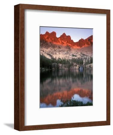 Late Afternoon Light on Sawtooth Mountains, Sawtooth National Recreation Area, Idaho, USA