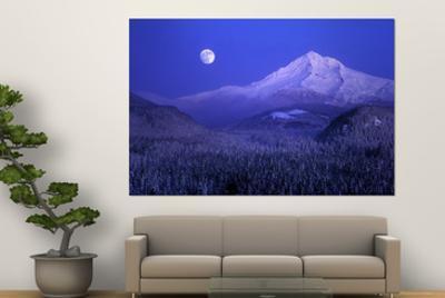 Moonrise over Mt. Hood, Oregon, USA