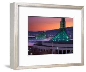Oregon Convention Center at Sunset, Portland, Oregon, USA by Janis Miglavs