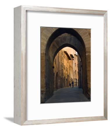 Walking Down the Medieval Streets, San Gimignano, Tuscany, Italy