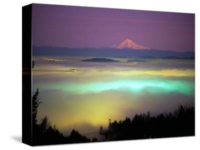 Willamette River Valley in a Fog Cover, Portland, Oregon, USA
