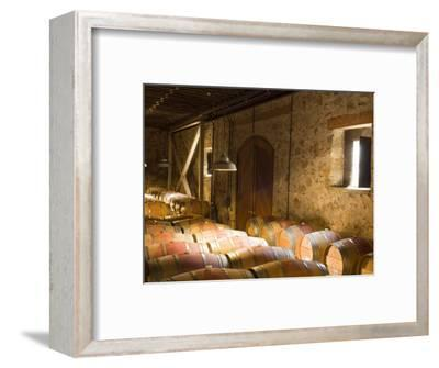 Window Light Streams Into Barrel Room at Hess Collection Winery, Napa Valley, California, USA