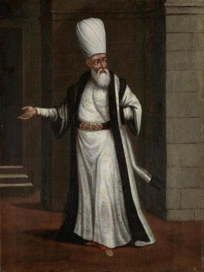 Janissary Aga, Commander-In-Chief of the Janissaries-Jean Baptiste Vanmour-Art Print