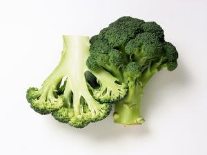 Two Half Broccoli Florets by Janne Peters