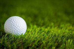 Golf Ball on Green Grass by jannoon028