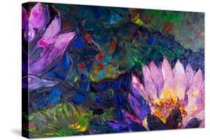 Oil Painting of Beautiful Lotus Flower by jannoon028