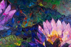 Oil Painting of Beautiful Lotus Flower by jannoon028