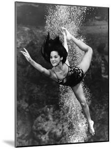 January 1970:  Underwater Ballet Routine at a Theatre at Weeki Wachee Spring, Florida.