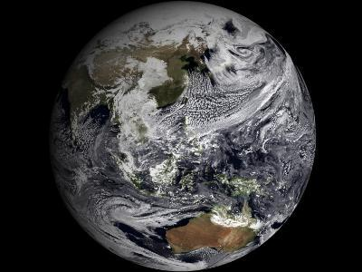 January 2, 2009 - Cloud Simulation of the Full Earth--Photographic Print