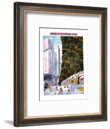 JANUARY 3RD AT ROCKEFELLER CENTER. - New Yorker Cartoon-Jack Ziegler-Framed Premium Giclee Print
