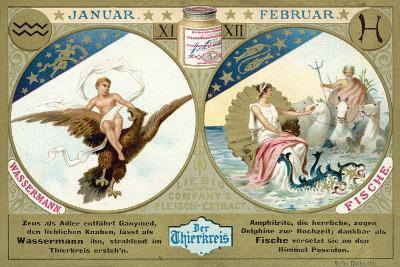 January and February: Aquarius and Pisces--Giclee Print