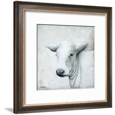 January Cow II-Britt Hallowell-Framed Art Print