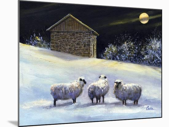 January Fleece-Jerry Cable-Mounted Giclee Print