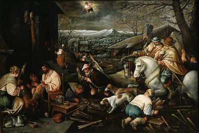 January' (From the Series 'The Seasons), Late 16th or Early 17th Century-Leandro Bassano-Giclee Print