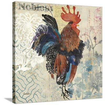 January Rooster--Stretched Canvas Print