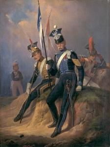 Polish Officers of the Napoleonic Army, 1852 by January Suchodolski
