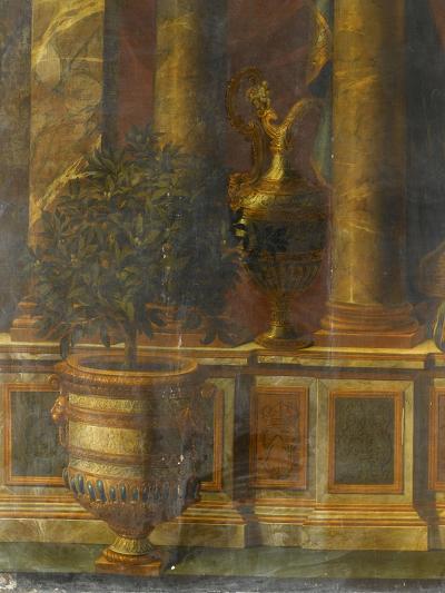 Janvier, signe du Verseau : représentation d'un opéra de Psyché devant la colonnade du Louvre-Charles Le Brun-Giclee Print