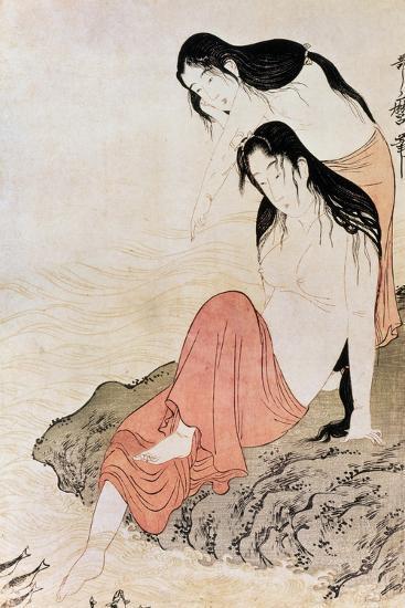 Japan: Abalone Divers-Kitagawa Utamaro-Giclee Print